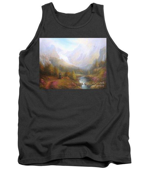 The Misty Mountains Tank Top by Joe  Gilronan