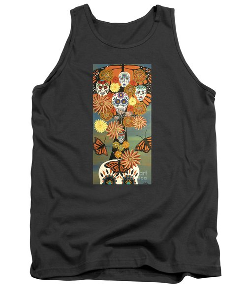 The Monarch's Tree Of Life And The Dead - Day Of The Dead Tank Top