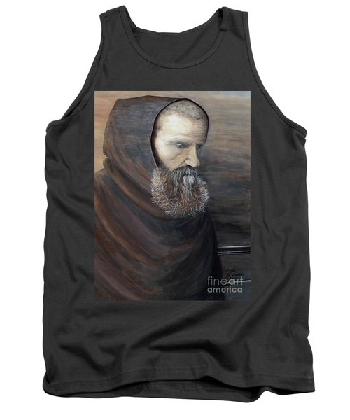 Tank Top featuring the painting The Monk by Judy Kirouac
