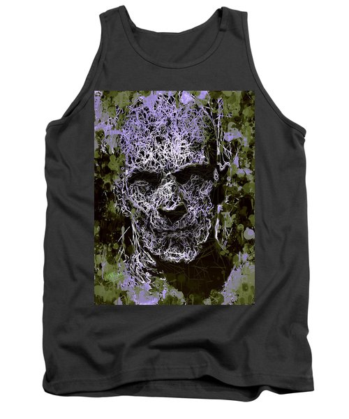 Tank Top featuring the mixed media The Mummy by Al Matra