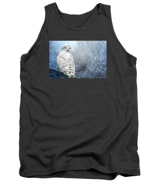 The Mystical Snowy Owl Tank Top by Brian Tarr