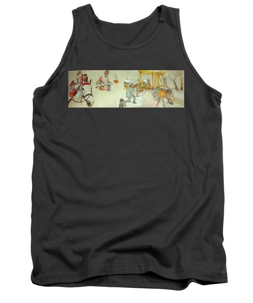 the Netherlands scroll Tank Top by Debbi Saccomanno Chan