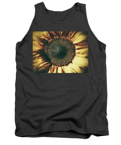 The Not So Sunny Sunflower Tank Top by Karen Stahlros