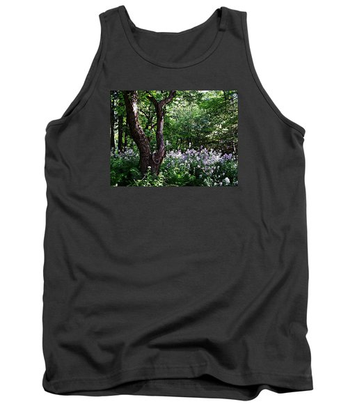 The Old Apple Tree, Fiddlehead Ferns And Wild Phlox Tank Top