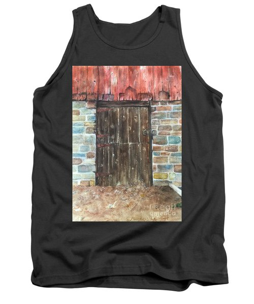 The Old Barn Door Tank Top by Lucia Grilletto