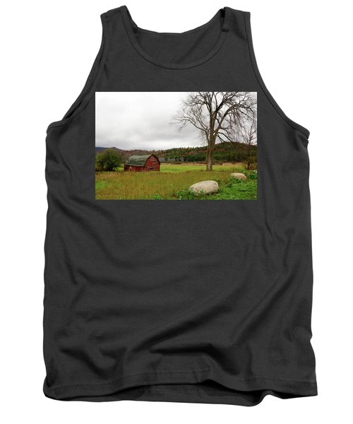 The Old Barn With Tree Tank Top