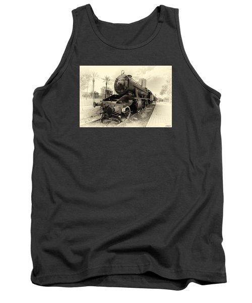 The Old Locomotive Tank Top by Uri Baruch