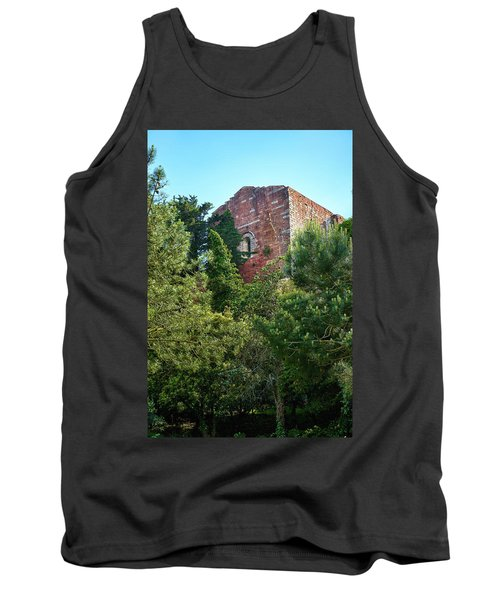 The Old Monastery Of Escornalbou Surrounded By Trees In Spain Tank Top