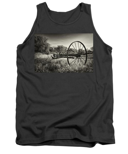 The Old Mower 2 In Black And White Tank Top