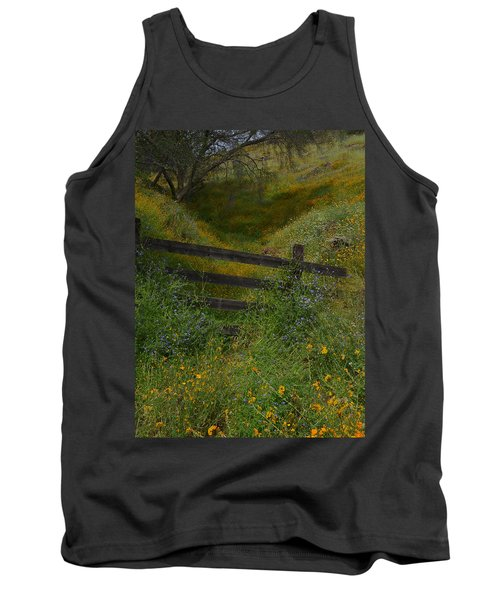 Tank Top featuring the photograph The Old Wooden Fence by Debby Pueschel