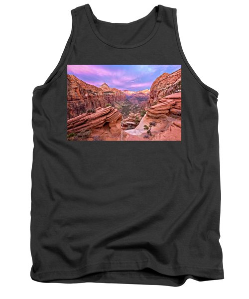 Tank Top featuring the photograph The Overlook by Eduard Moldoveanu