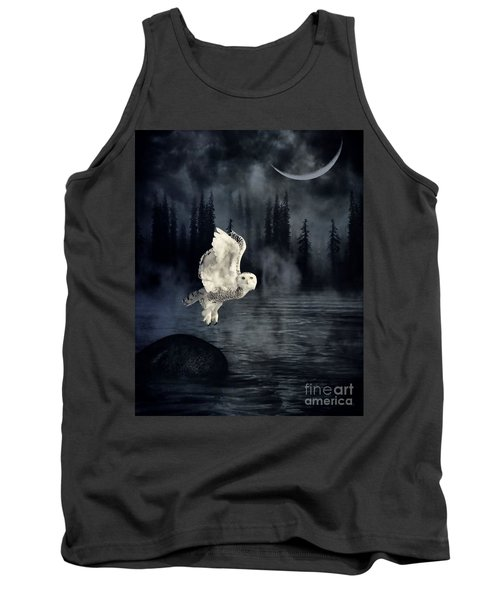 Tank Top featuring the photograph The Owl And Her Mystical Moon by Heather King