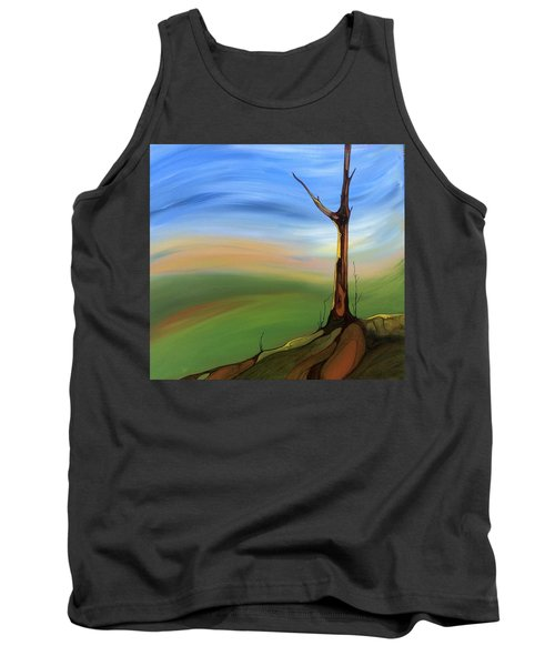 Tank Top featuring the painting The Painted Sky by Pat Purdy