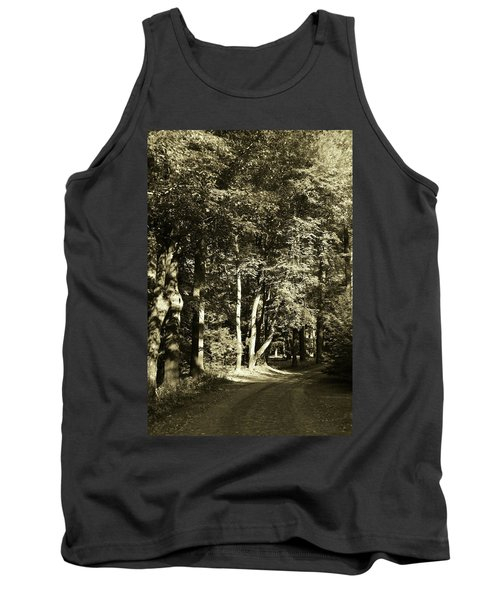 Tank Top featuring the photograph The Path Less Traveled by John Schneider