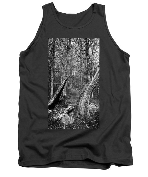The Path Through The Woods Bandw Tank Top