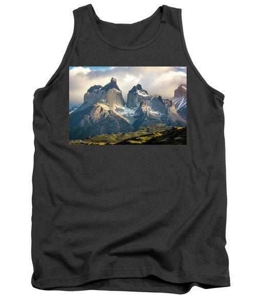 Tank Top featuring the photograph The Peaks At Sunrise by Andrew Matwijec