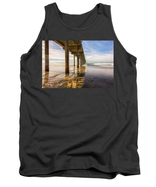 The Pier And Its Shadow Tank Top by Joseph S Giacalone