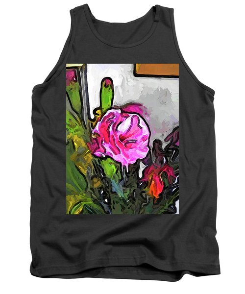 The Pink Flower With The Burgundy Buds Tank Top