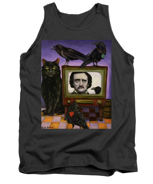 Tank Top featuring the painting The Poe Show by Leah Saulnier The Painting Maniac