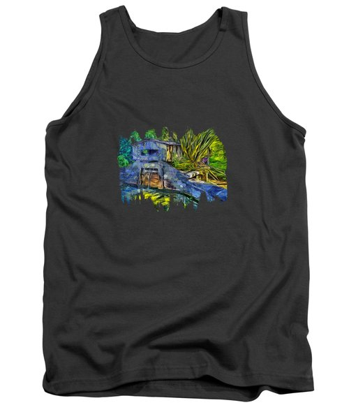 Tank Top featuring the photograph Blakes Pond House by Thom Zehrfeld