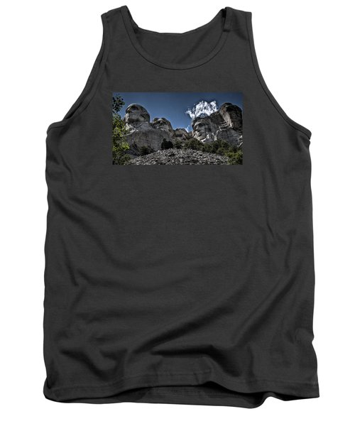 Tank Top featuring the photograph The Presidents Of Mount Rushmore by Deborah Klubertanz