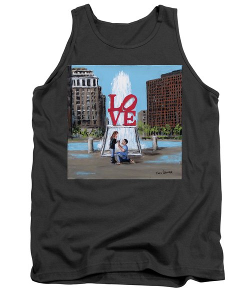Tank Top featuring the painting The Proposal by Jack Skinner