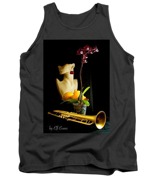 The Purple Orchid Tank Top by Elf Evans
