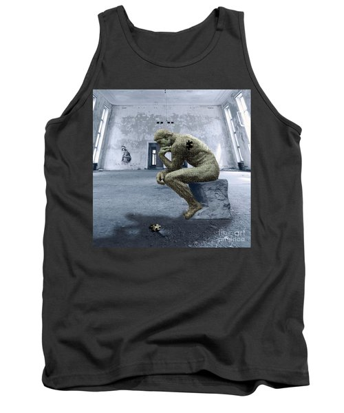 Tank Top featuring the photograph Puzzled by Juli Scalzi