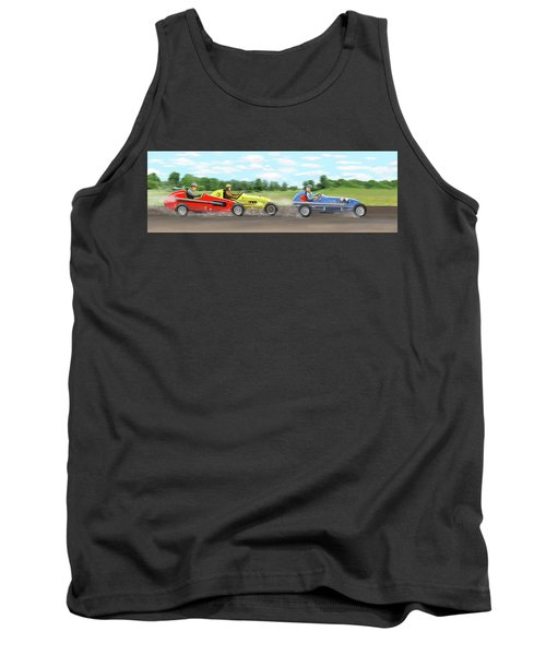 Tank Top featuring the digital art The Racers by Gary Giacomelli