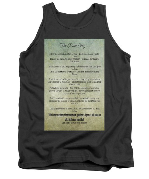 The Rain Song-led Zeppelin Tank Top
