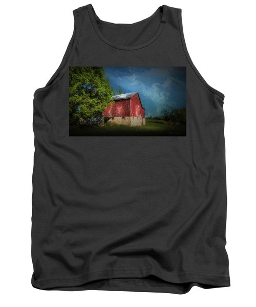 Tank Top featuring the photograph The Red Barn by Marvin Spates