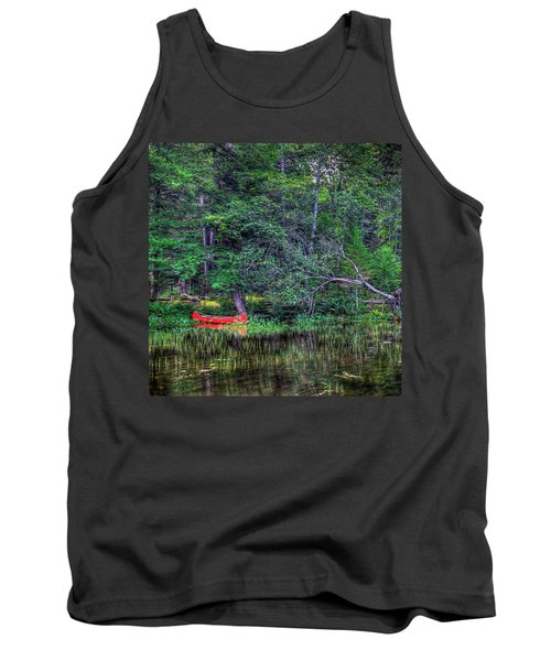 The Red Canoe Tank Top by David Patterson