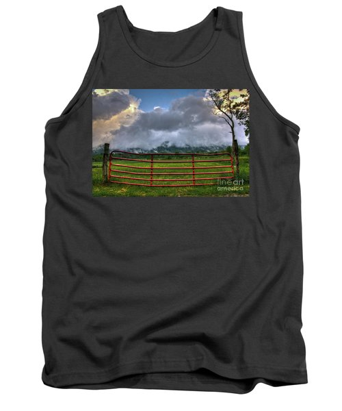 Tank Top featuring the photograph The Red Gate by Douglas Stucky