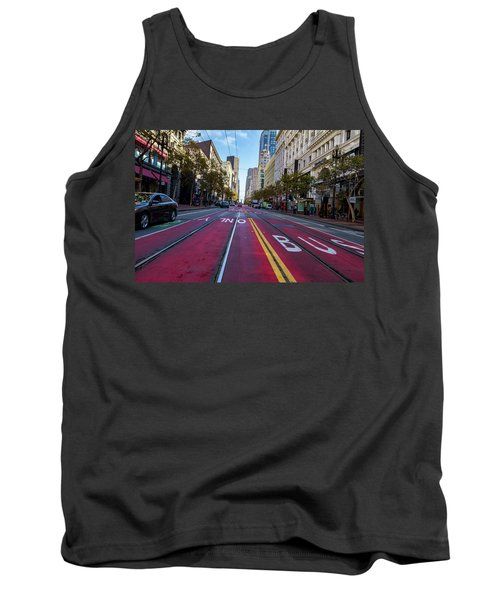 Tank Top featuring the photograph The Red Path by Darcy Michaelchuk