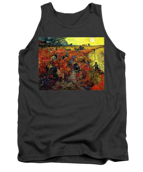 Tank Top featuring the painting The Red Vineyard At Arles by Van Gogh