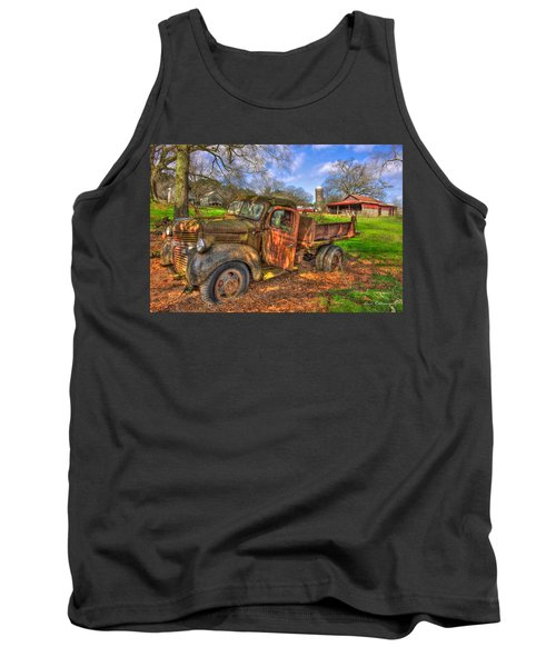 The Resting Place 2 Boswell Farm 1947 Dodge Dump Truck Tank Top by Reid Callaway