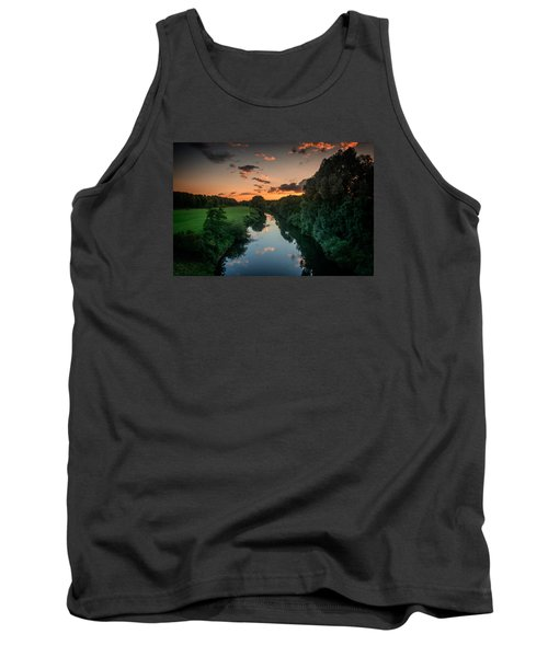 Tank Top featuring the photograph The River Lippe In Lower Rhine Region by Sabine Edrissi