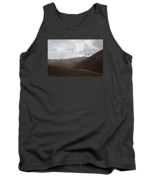 Tank Top featuring the photograph The Road To The Snow Goddess by Ryan Manuel
