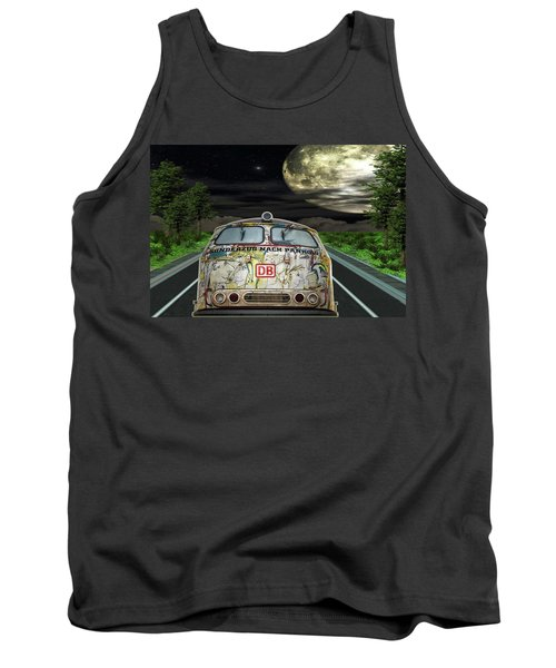 Tank Top featuring the digital art The Road Trip by Angela Hobbs