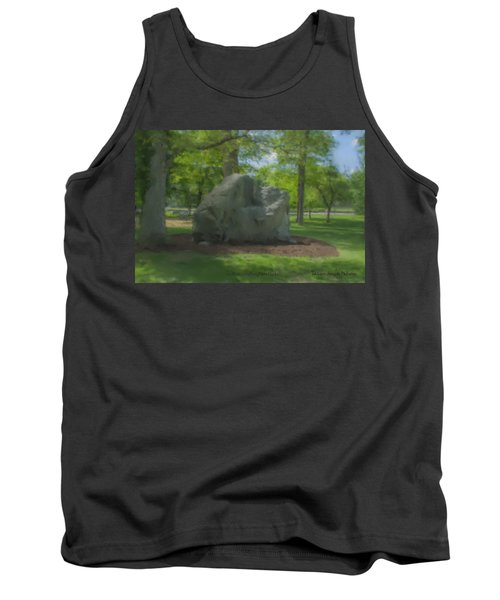 The Rock At Frothingham Park, Easton, Ma Tank Top