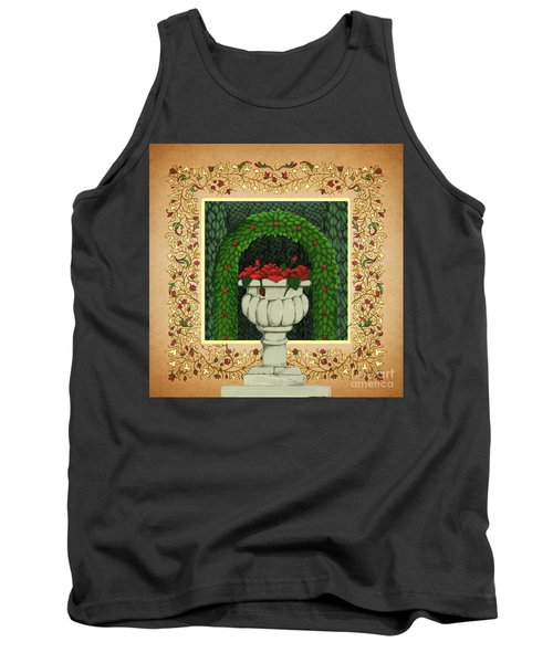 The Roses Urn Tank Top by Donna Huntriss
