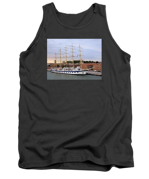 The Royal Clipper Docked In Venice Italy Tank Top by Richard Rosenshein