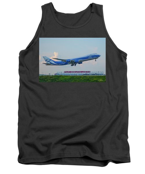 The Russian Connection Air Bridge Cargo Abc B747-8f Cargo Jet Art Tank Top