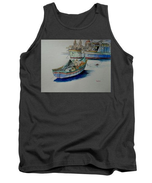 Tank Top featuring the painting The San George by Ray Agius
