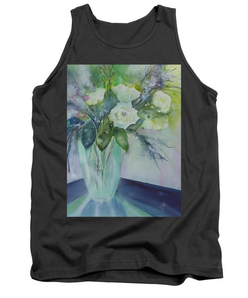 Flowers - White Roses Tank Top