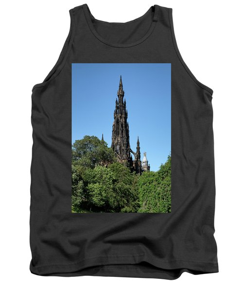 Tank Top featuring the photograph The Scott Monument In Edinburgh, Scotland by Jeremy Lavender Photography