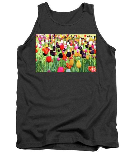 The Season Of Tulips Tank Top