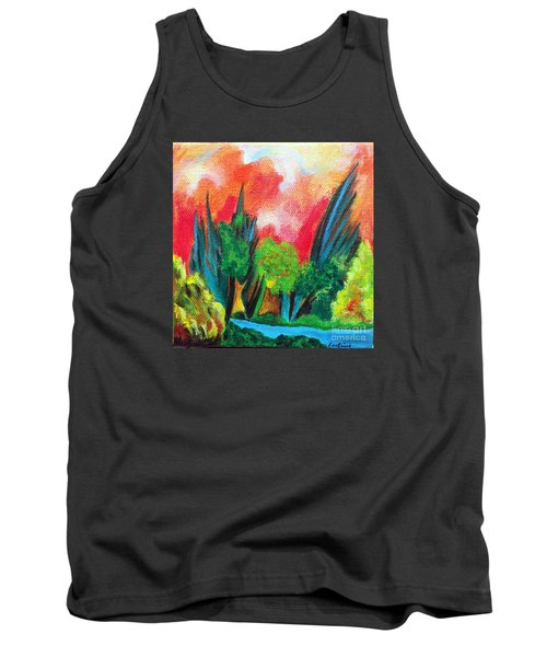 Tank Top featuring the painting The Secret Stream by Elizabeth Fontaine-Barr