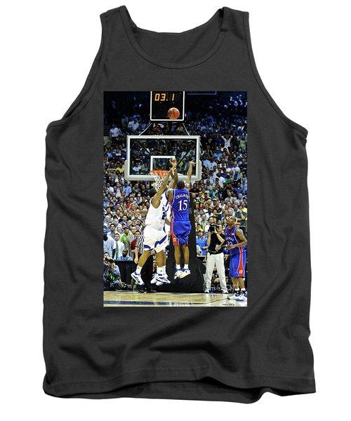 The Shot, 3.1 Seconds, Mario Chalmers Magic, Kansas Basketball 2008 Ncaa Championship Tank Top by Thomas Pollart