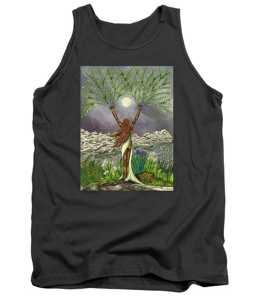 The Singing Girl Tank Top by FT McKinstry